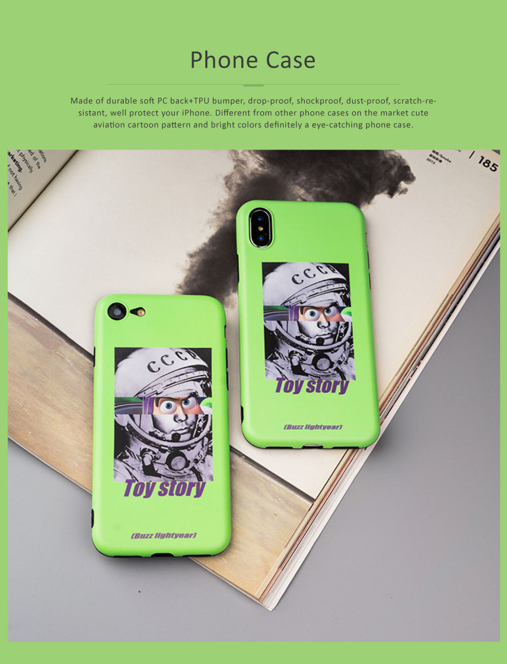 Cute Phone Case Cartoon Soft TPU Back Case Cover Durable Matte Phone Protector for iPhone 6, 6s, 6p, 6sp, 7, 7p, 8, 8p, x 0