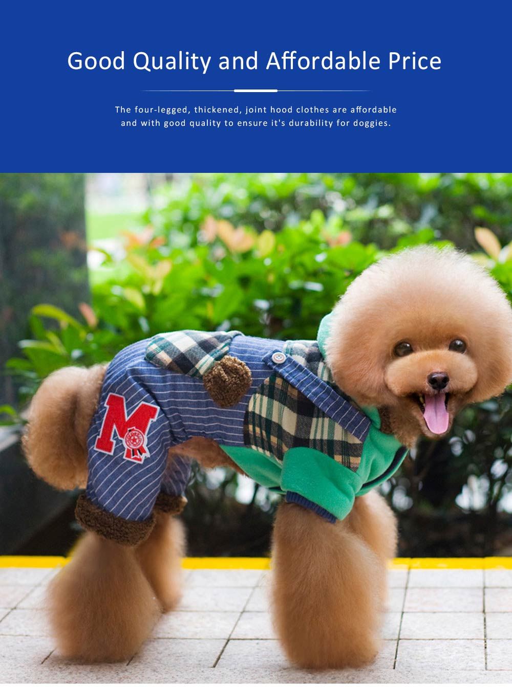 Thickened, Joint, Four-legged Dog Hood Clothes for Teddy Dog Clothes New Style EXW Wholesale Teddy Clothes 2