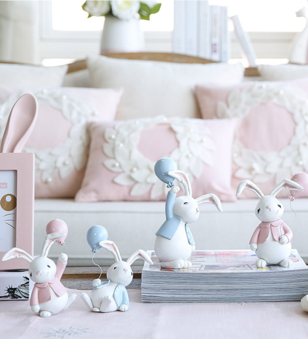 Nifty Rabbit Resin Decor as Gift for Friends, Birthday, Weddings Resin Decoration Sheets 4