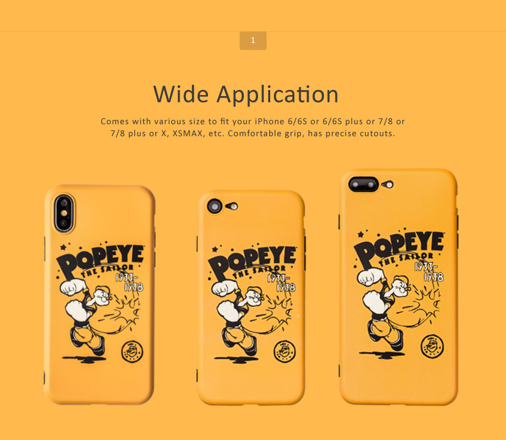Cute Cartoon Phone Case Soft TPU Back Case Cover Bright Color Matte Phone Shell for iPhone 6/6s/6p/6sp/7/7p/8/8p/x 1