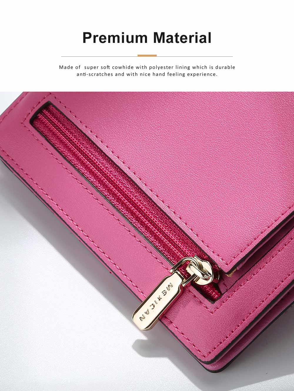 Women Purse Small Leather Pocket Purse Ladies Mini Short Purse Slim Bifold Retro Money Clip Gifts for Women 5