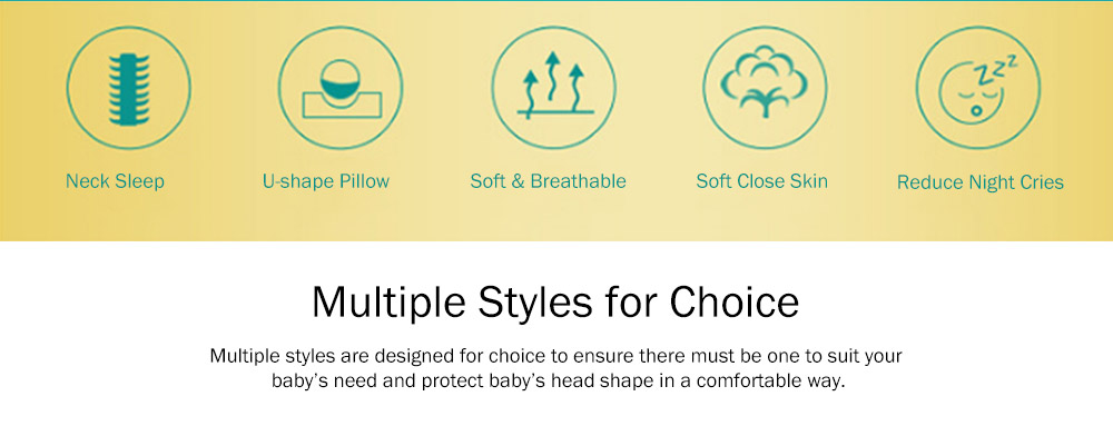 Flat Head Baby Pillows for Sleeping, Cartoon Adjusted Baby Pillow for Newborn Prevent Flat Head 9