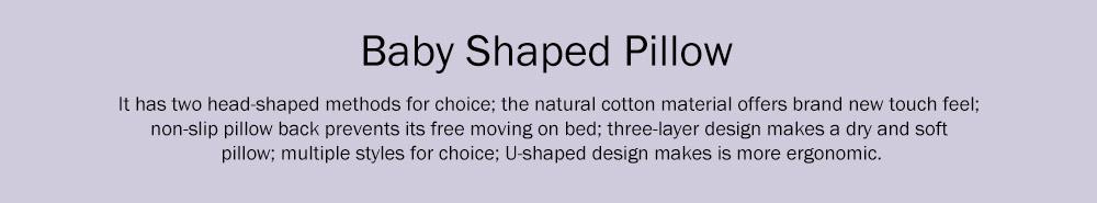 Flat Head Baby Pillows for Sleeping, Cartoon Adjusted Baby Pillow for Newborn Prevent Flat Head 0
