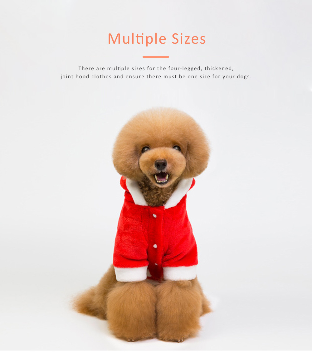 Flannel Christmas Clothes for Dogs New-style 2019 Christmas Pet Hood Clothes Tri-glide Flannel Teddy Dog Clothes 4