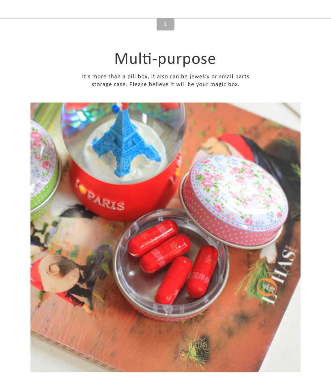 Mini Macaron Pill Box Cute Colorful Jewelry Storage Box Pill Organizer Case Container 1