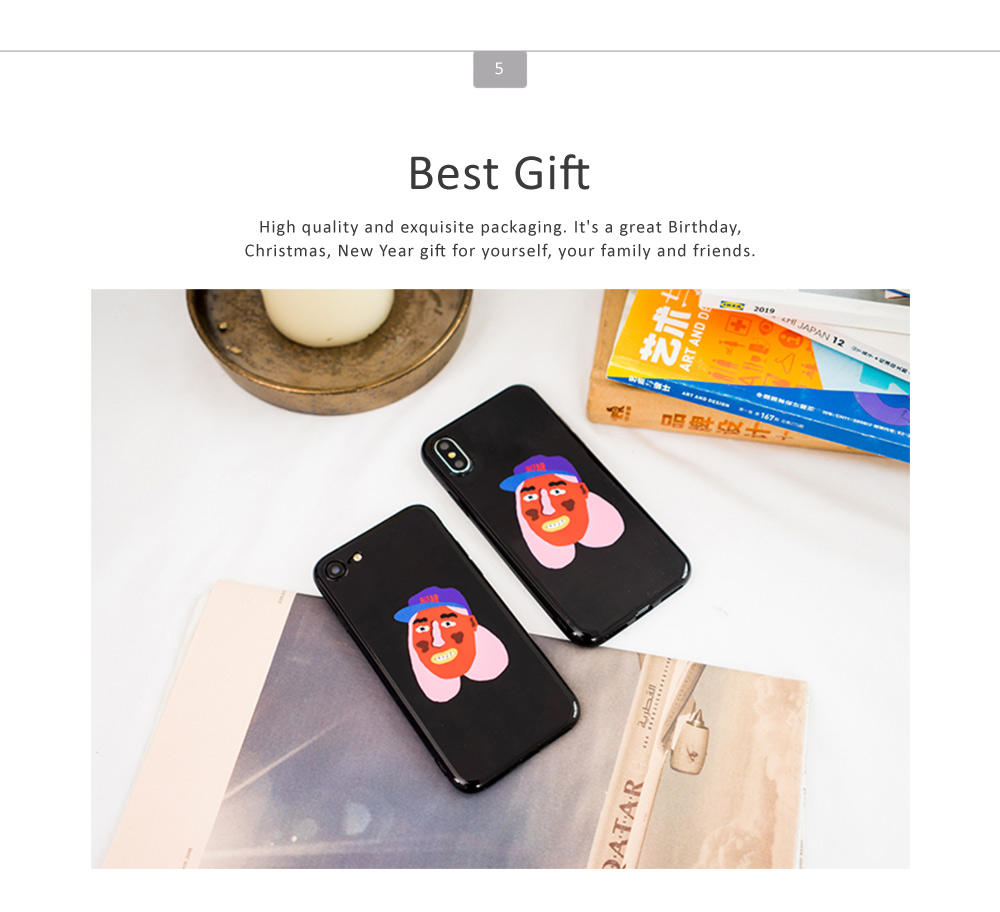 Full Body Protective Back Case Cover Soft TPU Phone Protector for iPhone 6, 6s, 6p, 6sp, 7, 7p, 8, 8p, x 5