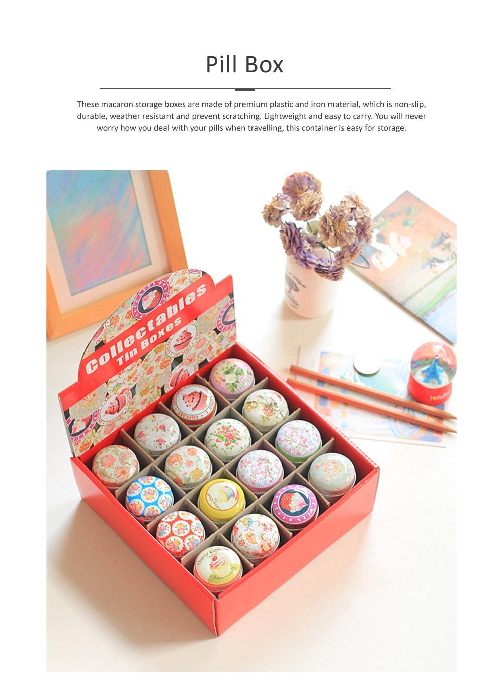 Mini Macaron Pill Box Cute Colorful Jewelry Storage Box Pill Organizer Case Container 0