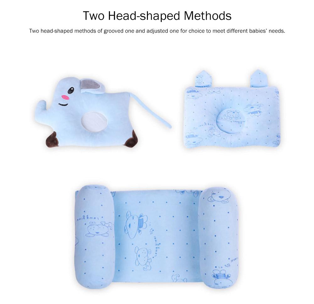 Flat Head Baby Pillows for Sleeping, Cartoon Adjusted Baby Pillow for Newborn Prevent Flat Head 3