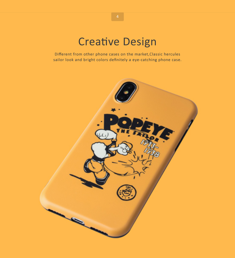 Cute Cartoon Phone Case Soft TPU Back Case Cover Bright Color Matte Phone Shell for iPhone 6/6s/6p/6sp/7/7p/8/8p/x 4