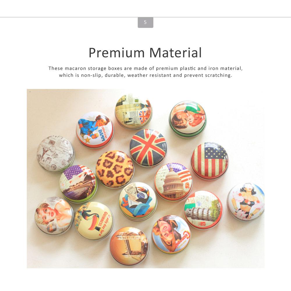 Mini Macaron Pill Box Cute Colorful Jewelry Storage Box Pill Organizer Case Container 5