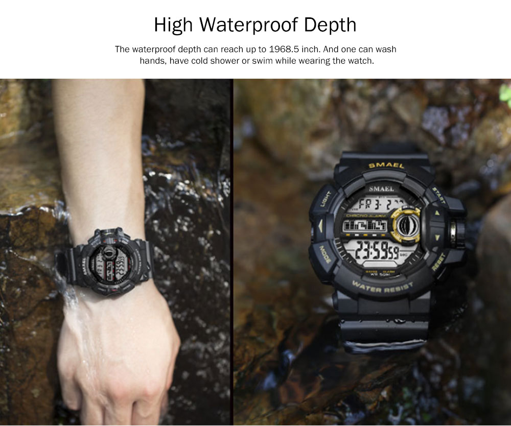 New-style Electronic Watches for Men, Outdoor Electronic Watch for Boys, Waterproof Shakeproof Sports-dedicated Watch 5
