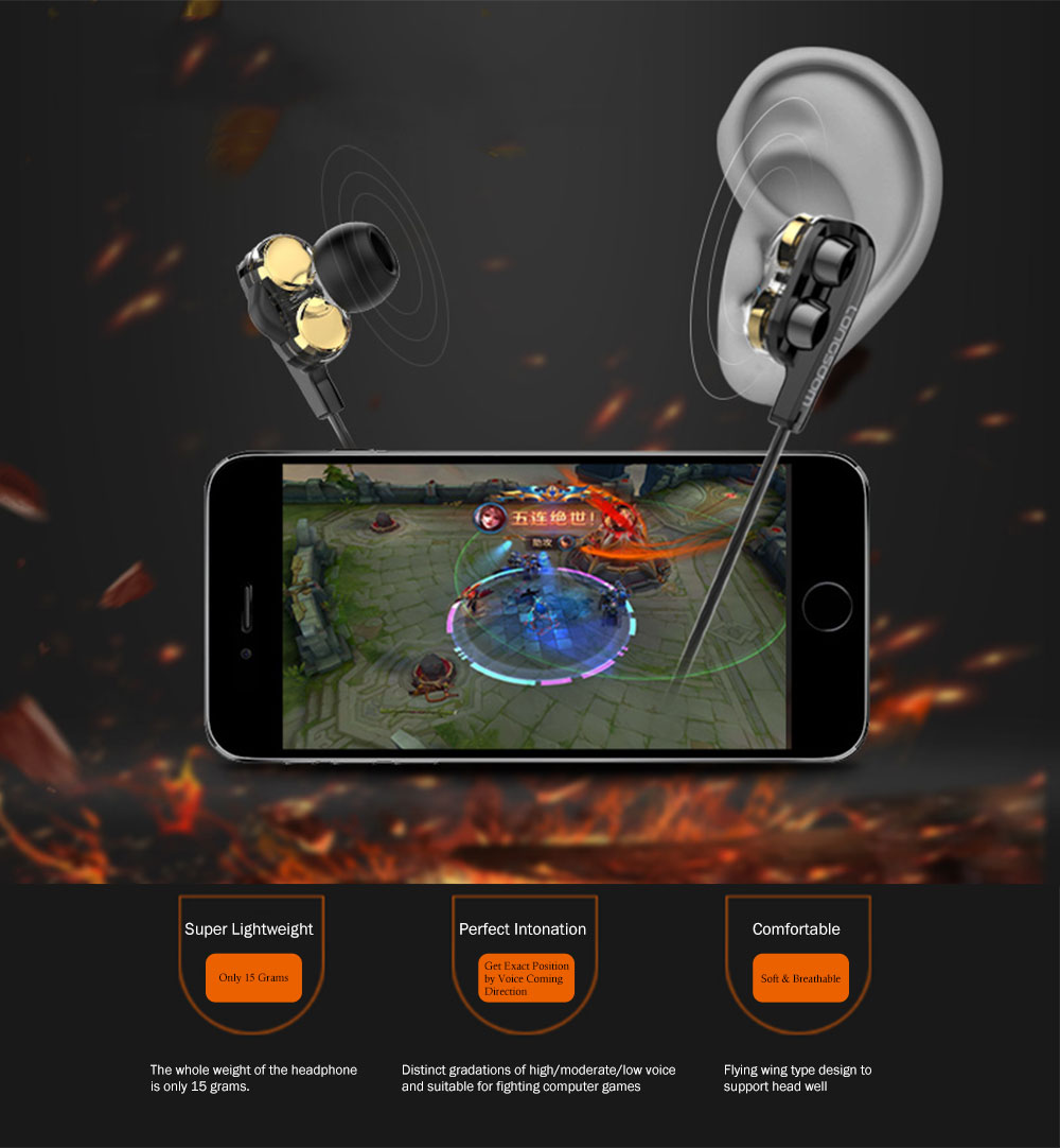 Apple Devices for Computer Games In-Ear Headphones with Mic, Noise Reduction Ear Plugs for Sleeping 3