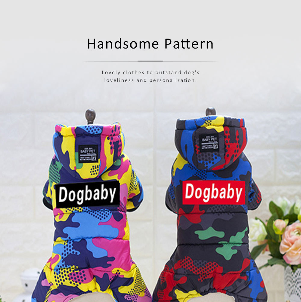 Camouflage Hoodie Four-legged New-style Cotton Clothes for Small Size Dogs Pet Clothes in Autumn and Winter Dog Clothes 2