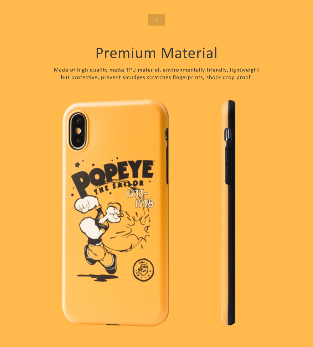 Cute Cartoon Phone Case Soft TPU Back Case Cover Bright Color Matte Phone Shell for iPhone 6/6s/6p/6sp/7/7p/8/8p/x 2