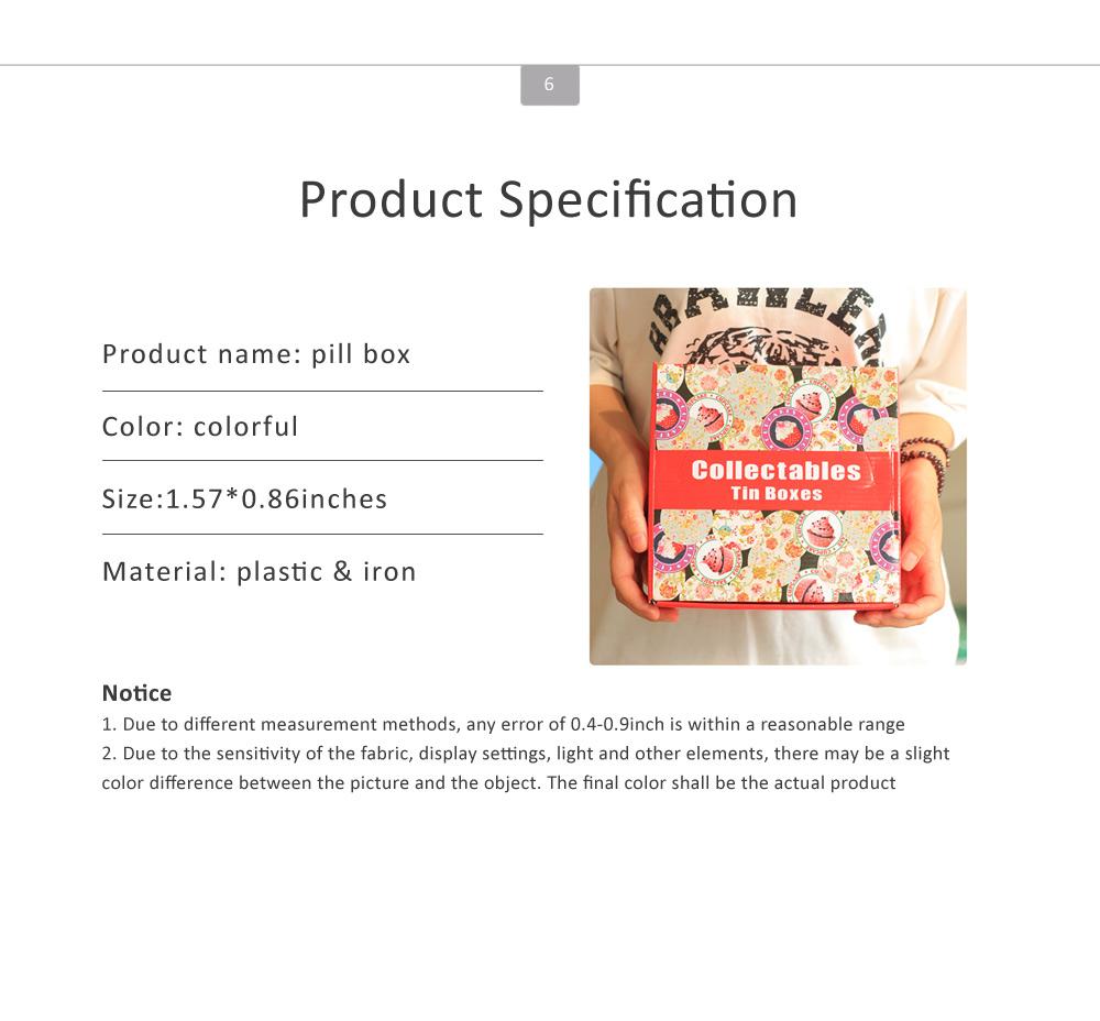 Mini Macaron Pill Box Cute Colorful Jewelry Storage Box Pill Organizer Case Container 6