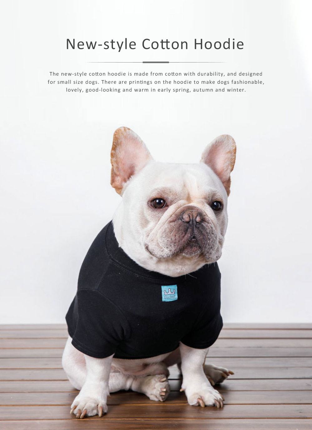 New-style Cotton Pet Hoodies for Small Size Dog with Velvet Printings Autumn and Winter Use Pet Dressings Hoodie 2019 0