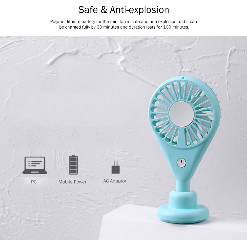 New-style Dual Version Mini Fan for Outdoor Plug In Portable Fan Handheld 2019 Rainbow Color Battery-Operated Nightlight Fan 15