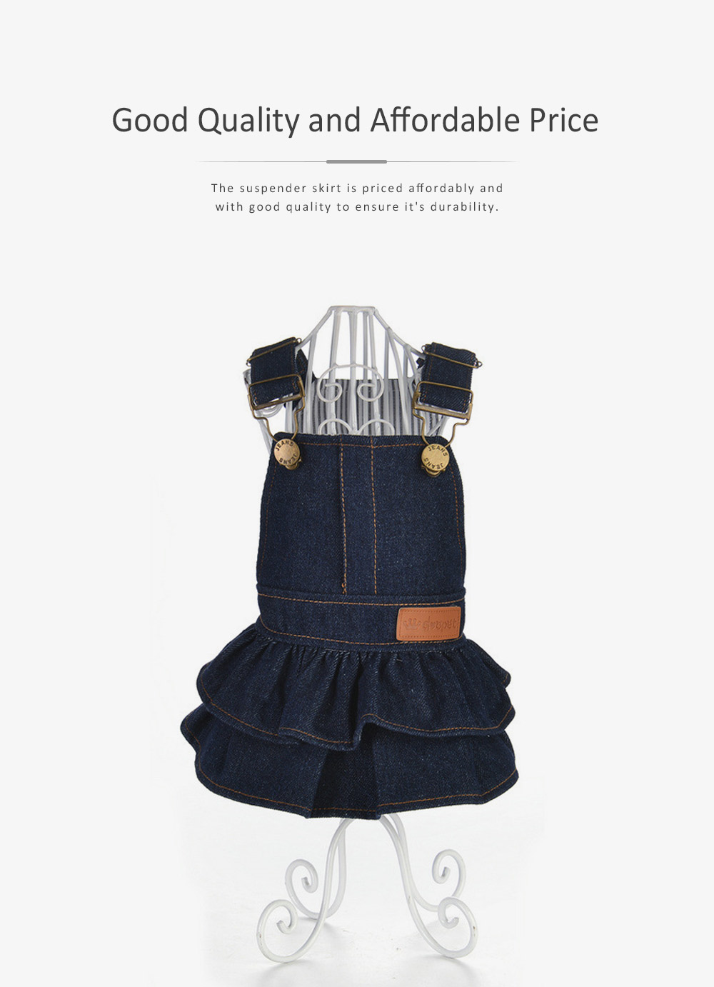 Jeans Suspender Skirt for Dogs New-style Pet Clothes in 2019 Used During Autumn and Winter Dog Clothes 4