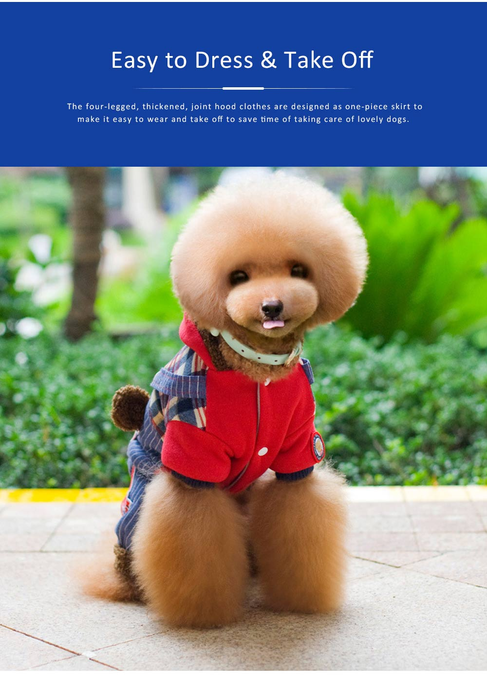 Thickened, Joint, Four-legged Dog Hood Clothes for Teddy Dog Clothes New Style EXW Wholesale Teddy Clothes 4
