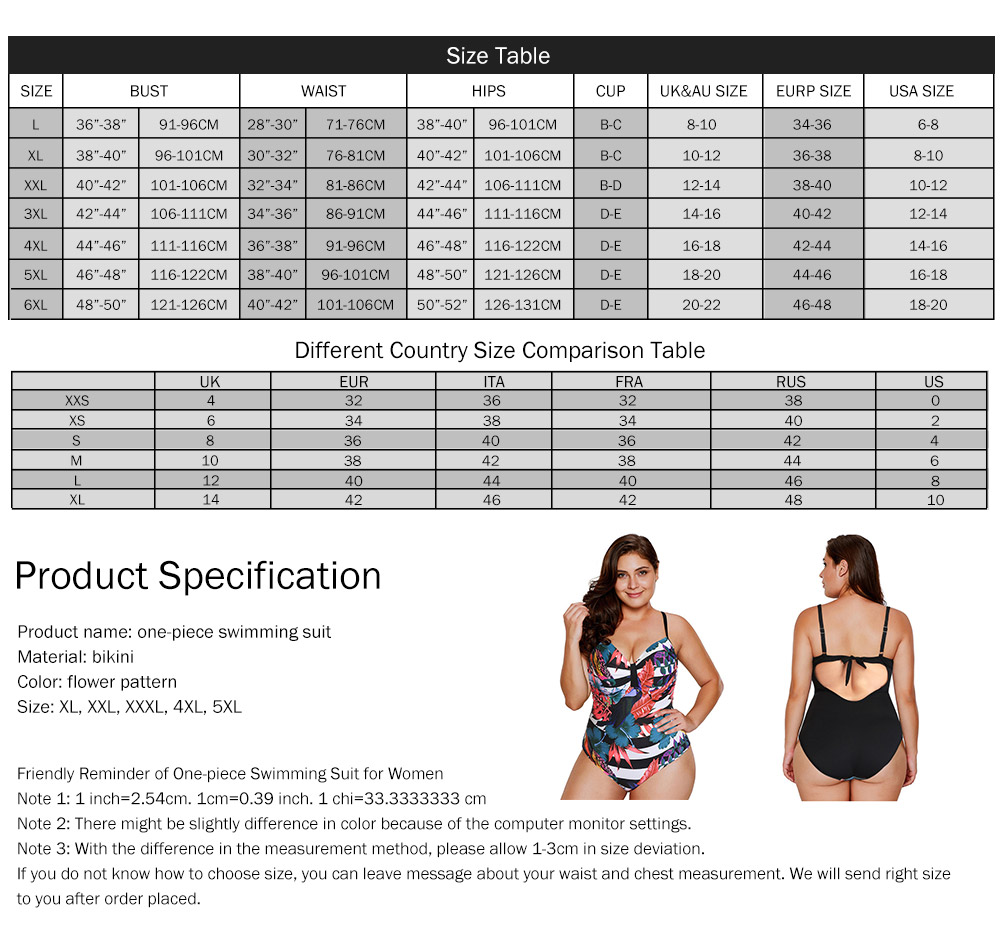 Large Size One-piece Swimming Suit for Women, Digital Printing Flower Patterns One-piece Swimsuits, Top-selling 8