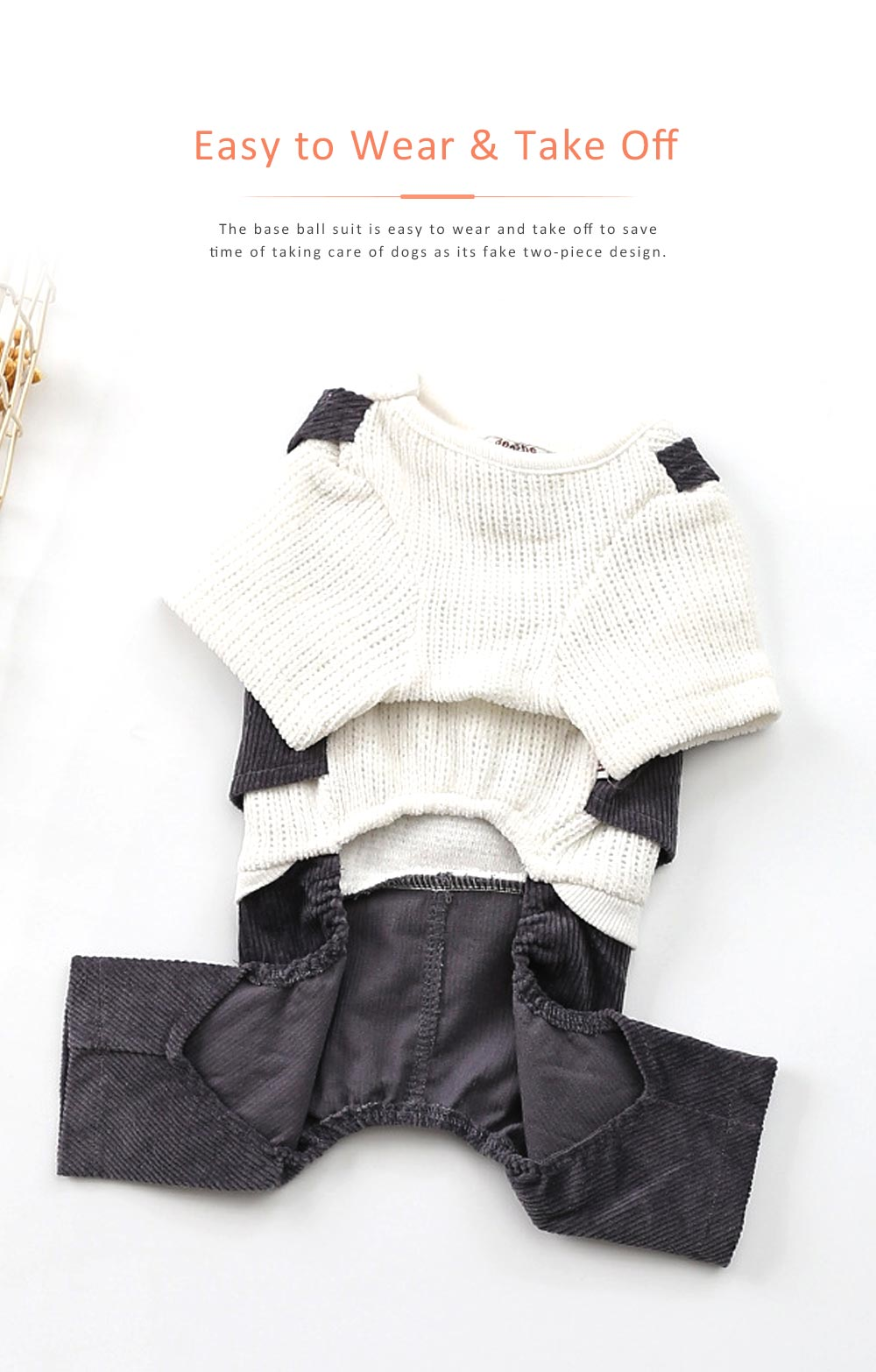 Dog Dressings Four-legged Knitted Fake Two-piece Pet Clothes in Autumn and Winter Pet Clothes 6