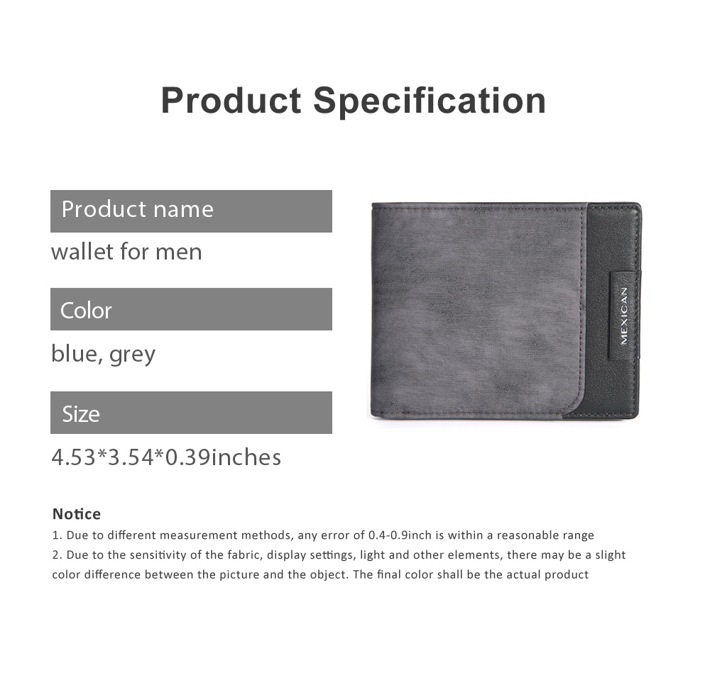 RFID Blocking Slim Bifold Retro Money Clip, Leather and Polyester Credit Card Wallets Gifts for Men 6