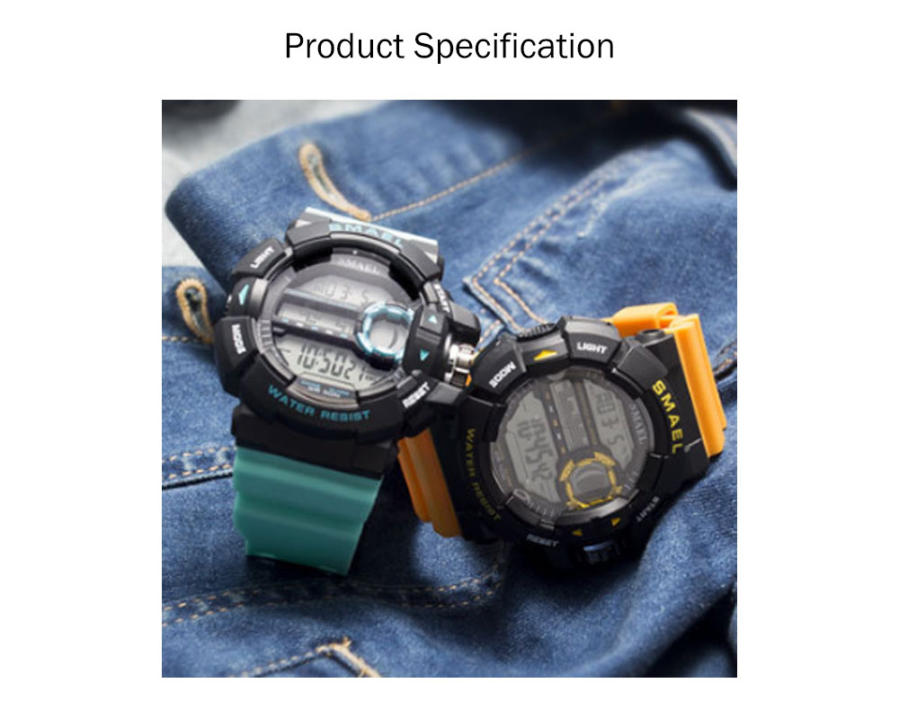 New-style Electronic Watches for Men, Outdoor Electronic Watch for Boys, Waterproof Shakeproof Sports-dedicated Watch 7