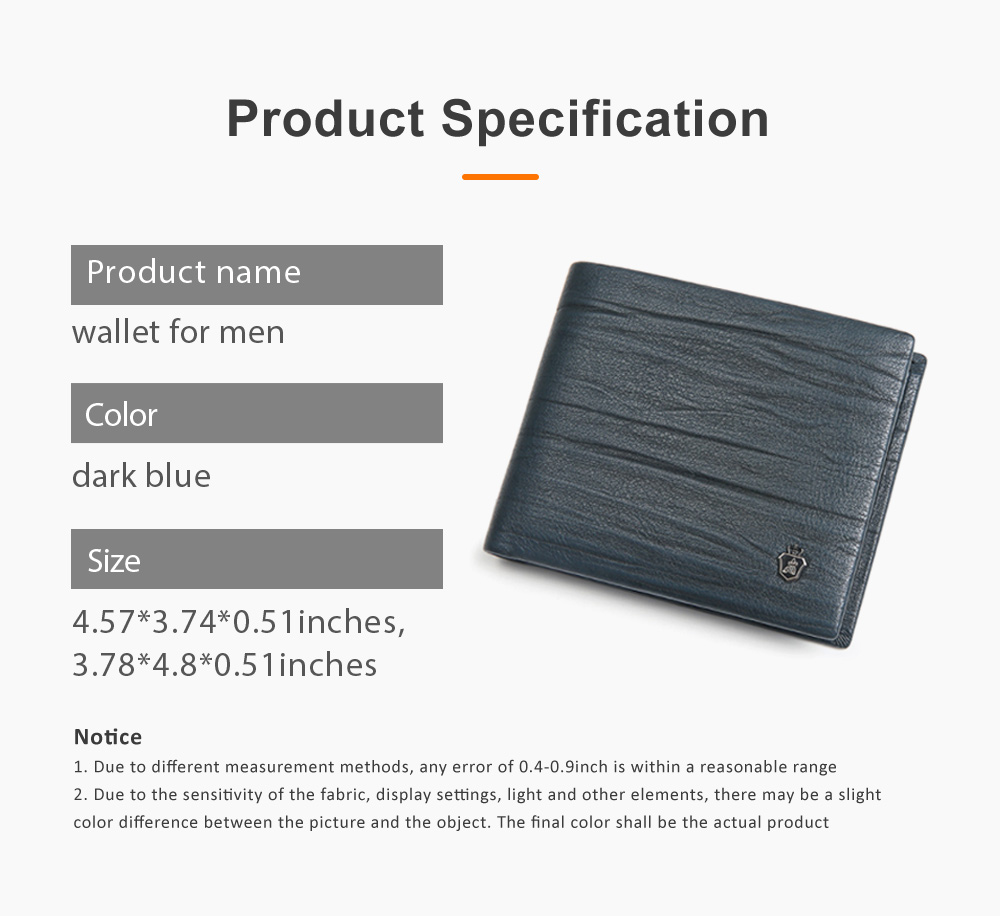 Men Wallet RFID Blocking Genuine Leather Wallets Slim Bifold Top Flip Money Clip Gifts for Men 6