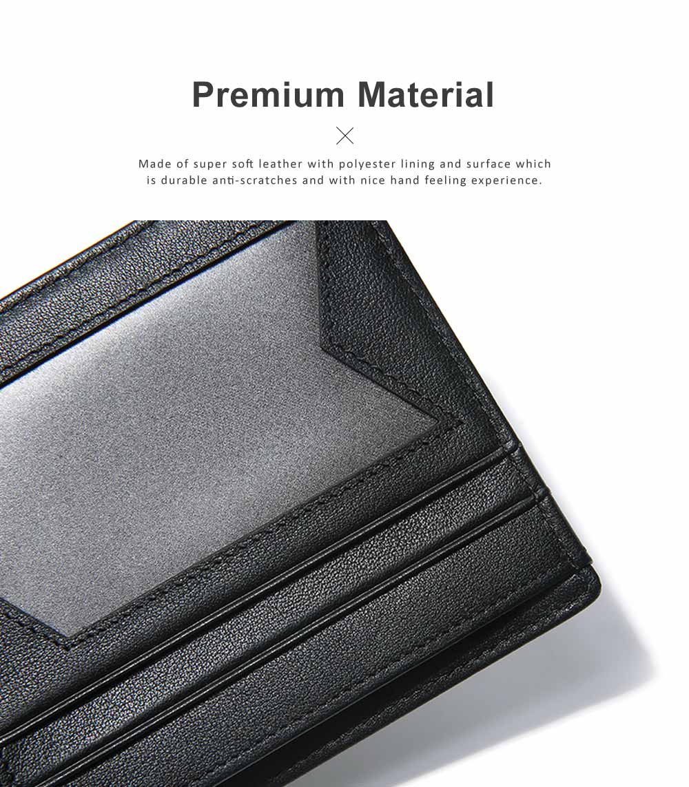 RFID Blocking Slim Bifold Retro Money Clip, Leather and Polyester Credit Card Wallets Gifts for Men 5