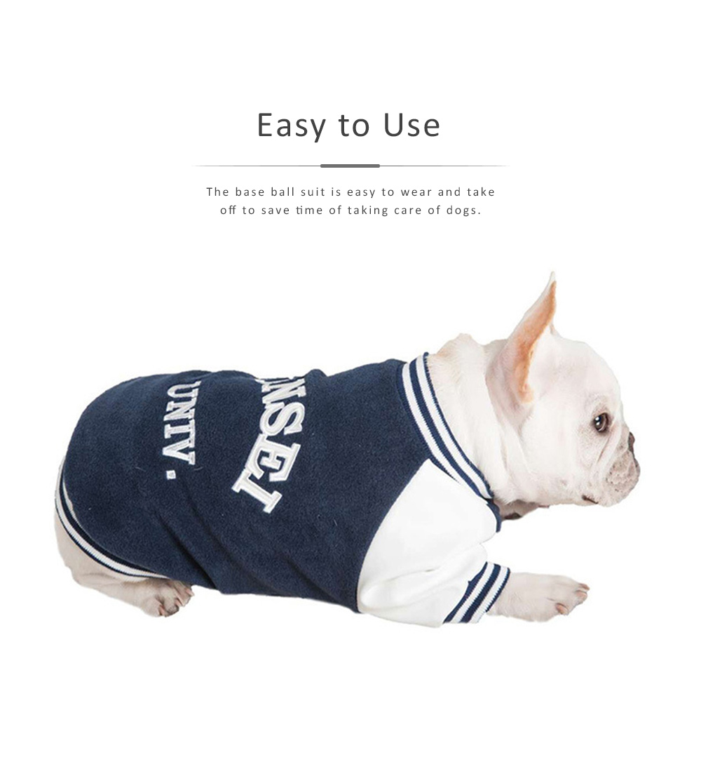 Dog Baseball Costume Double-layer Embroidered New-style Baseball Suit for Both Big and Small Size Dogs in Autumn and Winter 5