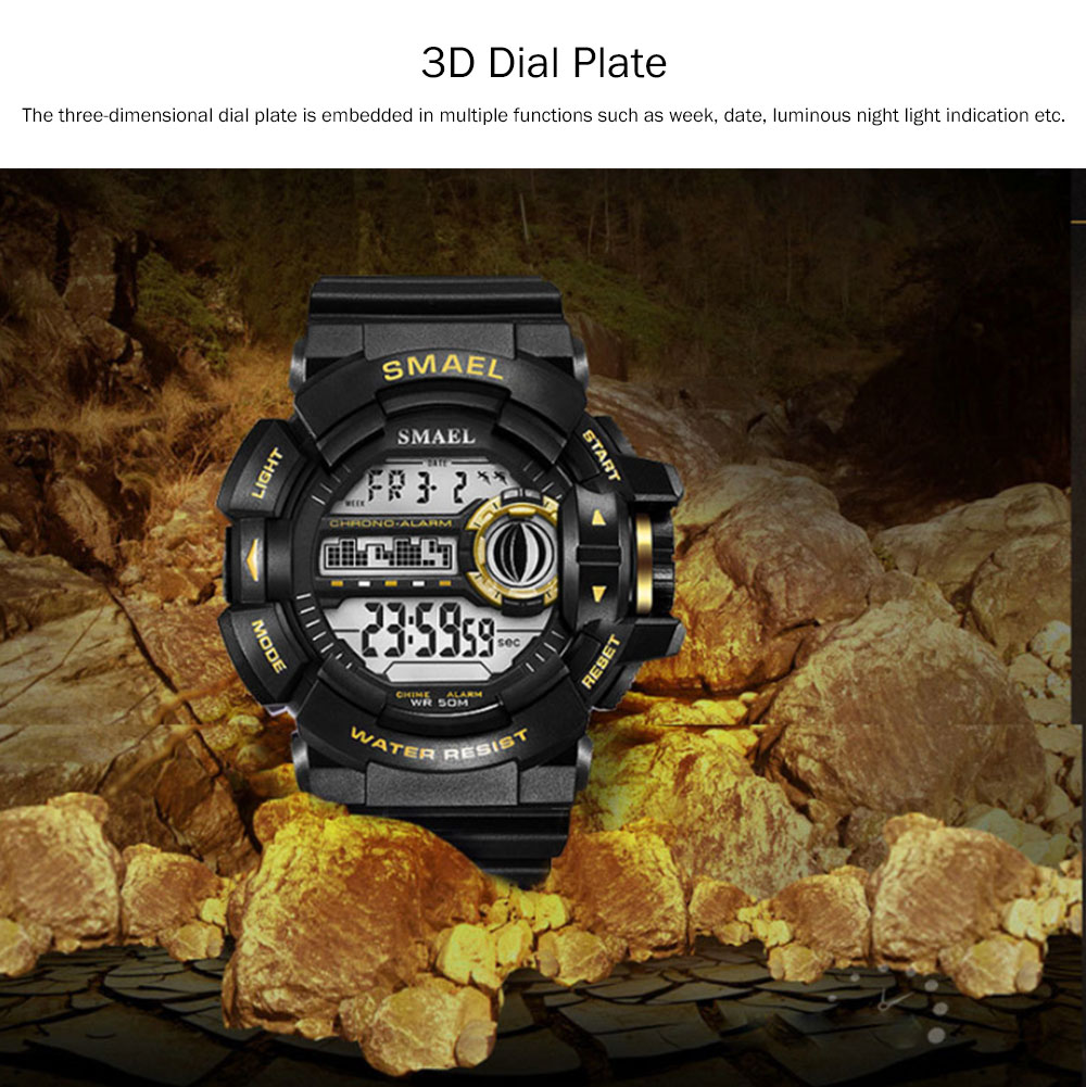 New-style Electronic Watches for Men, Outdoor Electronic Watch for Boys, Waterproof Shakeproof Sports-dedicated Watch 2