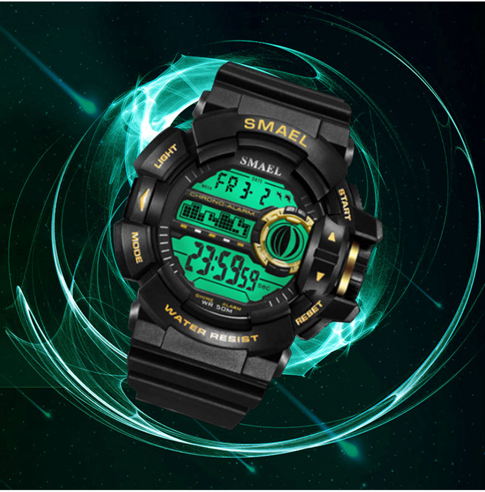 New-style Electronic Watches for Men, Outdoor Electronic Watch for Boys, Waterproof Shakeproof Sports-dedicated Watch 4