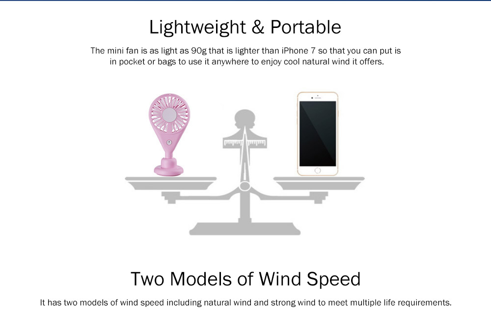 New-style Dual Version Mini Fan for Outdoor Plug In Portable Fan Handheld 2019 Rainbow Color Battery-Operated Nightlight Fan 2