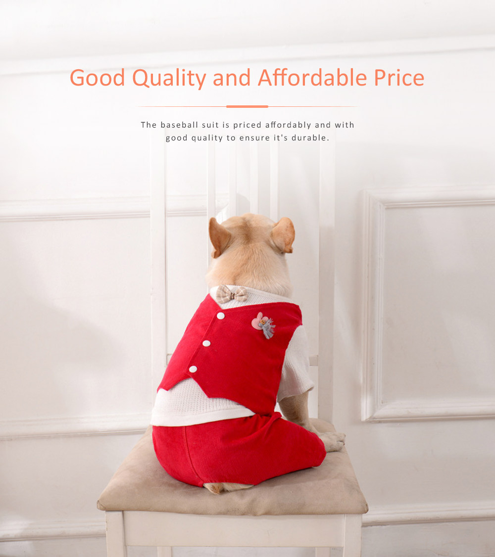 Dog Dressings Four-legged Knitted Fake Two-piece Pet Clothes in Autumn and Winter Pet Clothes 4