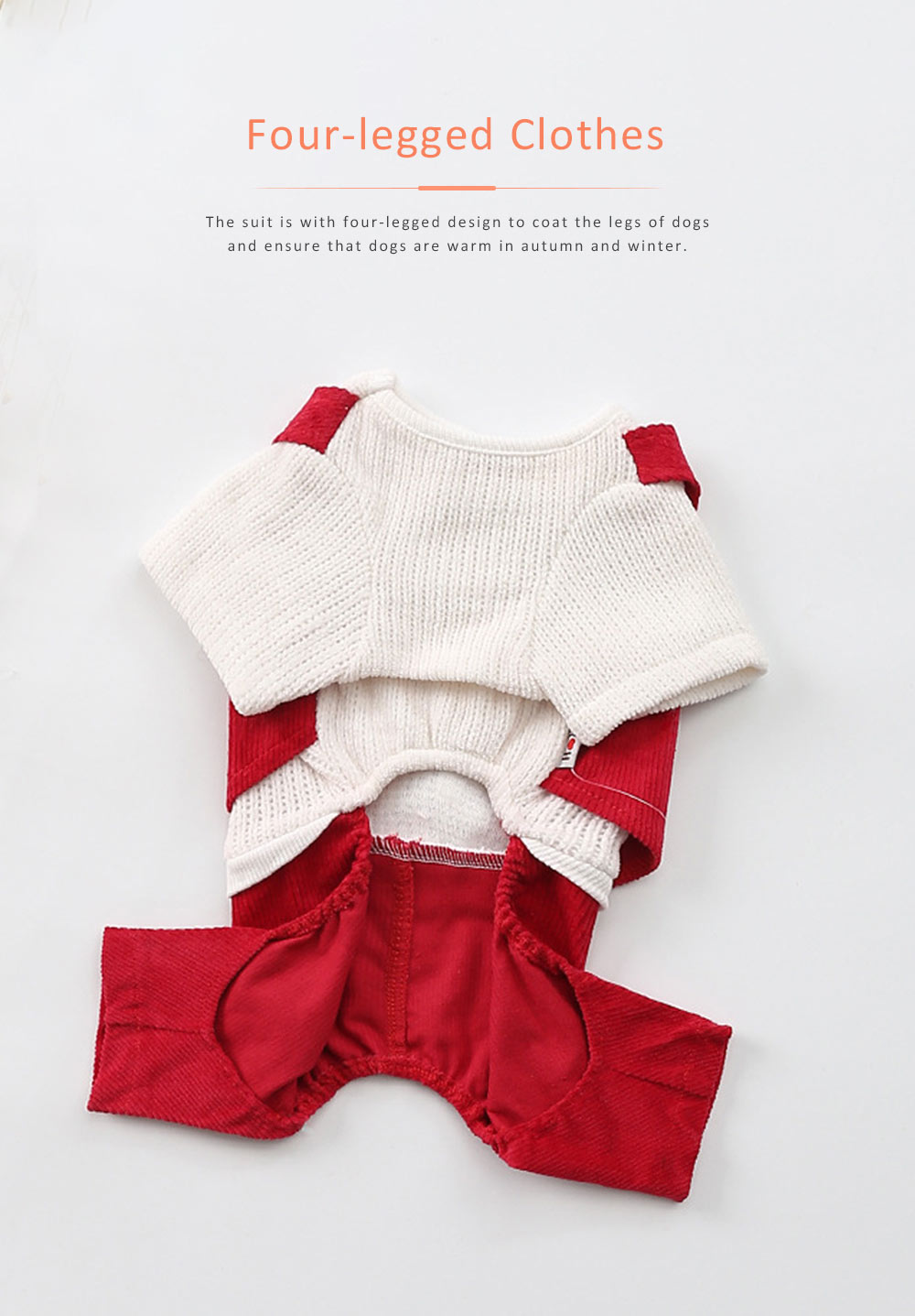 Dog Dressings Four-legged Knitted Fake Two-piece Pet Clothes in Autumn and Winter Pet Clothes 2