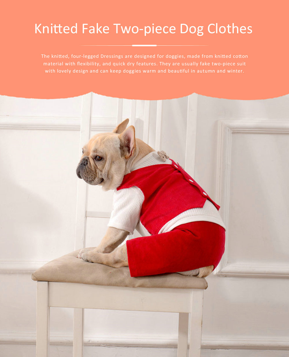 Dog Dressings Four-legged Knitted Fake Two-piece Pet Clothes in Autumn and Winter Pet Clothes 0