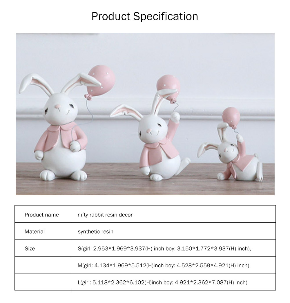 Nifty Rabbit Resin Decor as Gift for Friends, Birthday, Weddings Resin Decoration Sheets 8