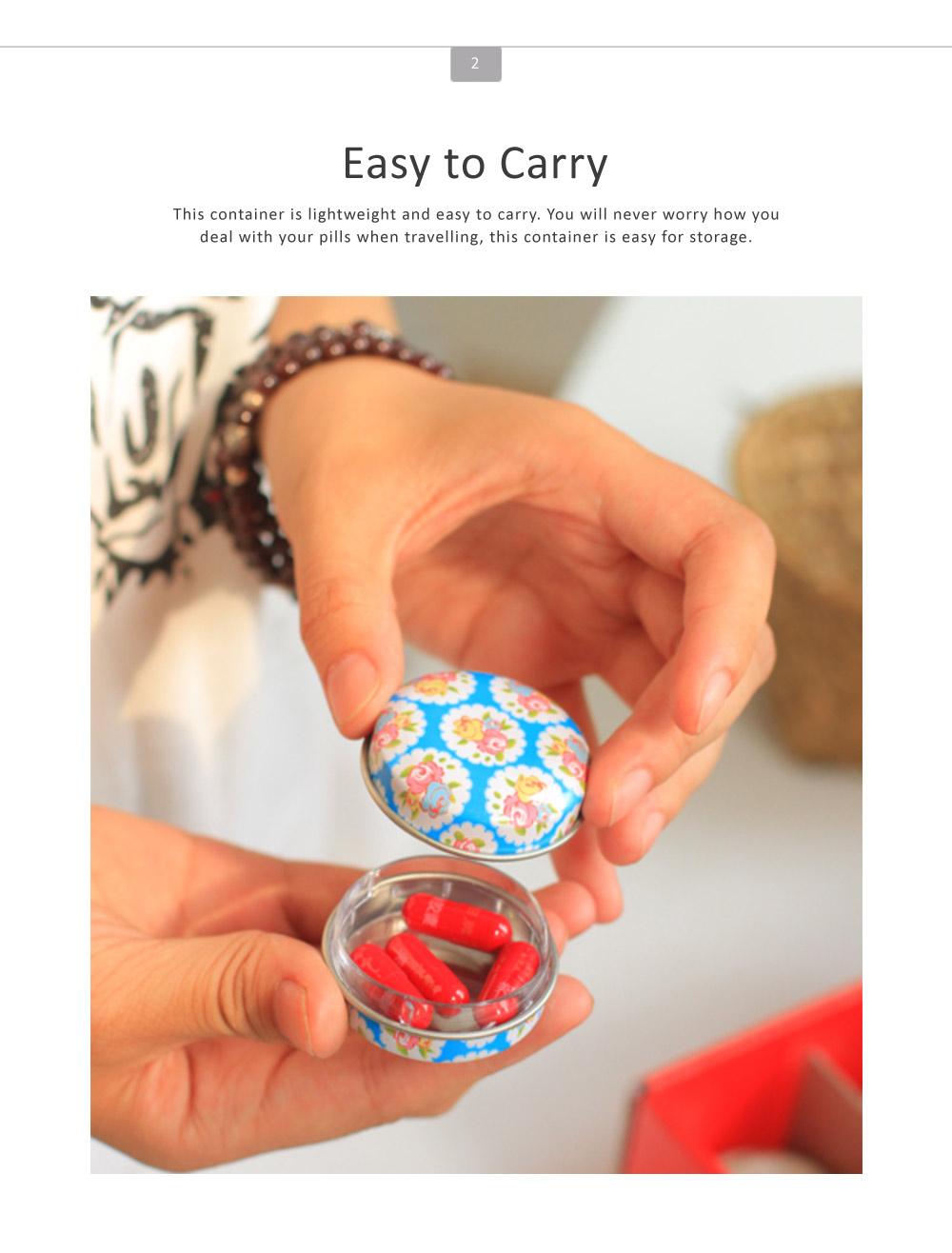 Mini Macaron Pill Box Cute Colorful Jewelry Storage Box Pill Organizer Case Container 2