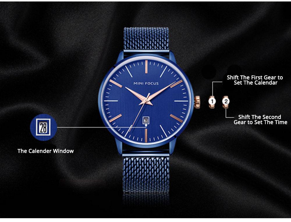 Steel Strap Quartz Watch for Men, Water-proof Round Alloy Dial Watch Wear-proof Classic Watch 6