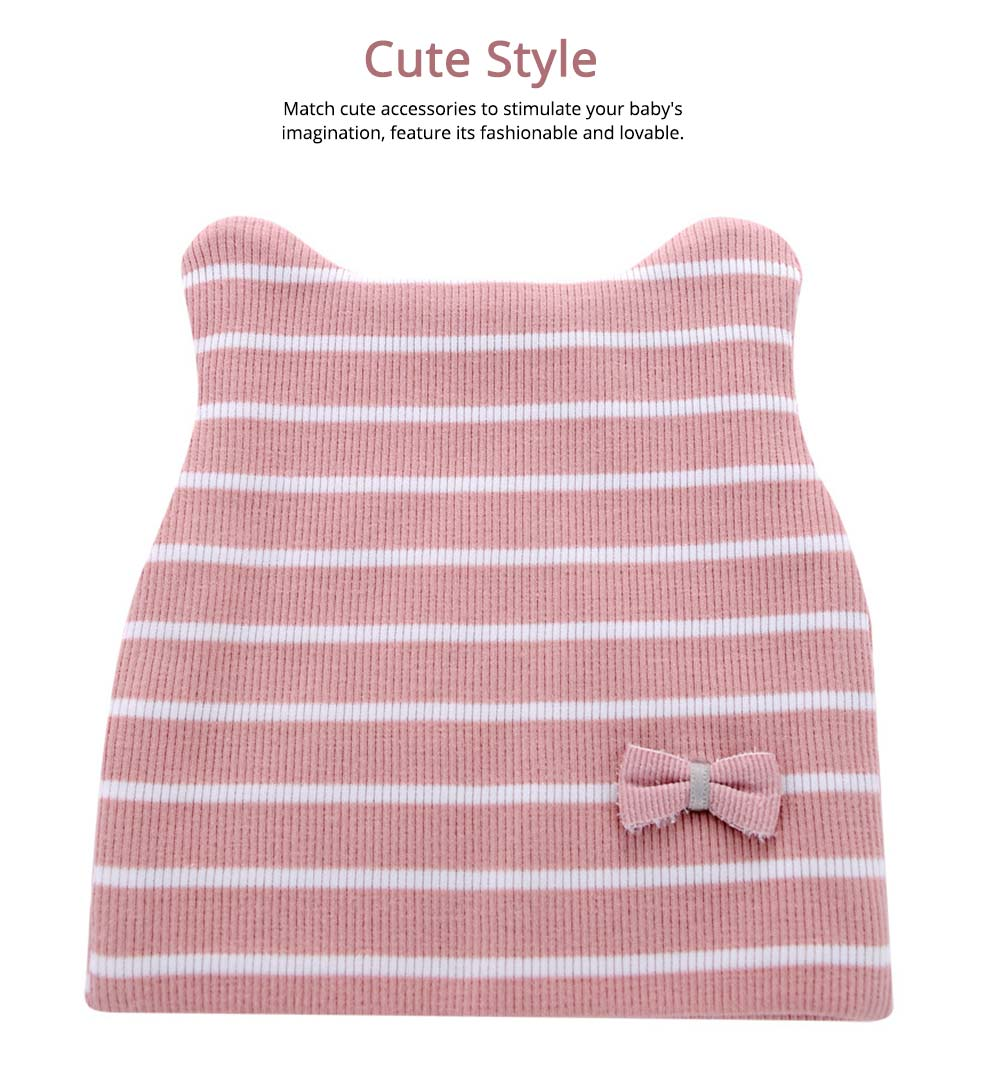 Natural Cotton Hat High Elasticity Headgear with Cute accessories for Baby Cap 2
