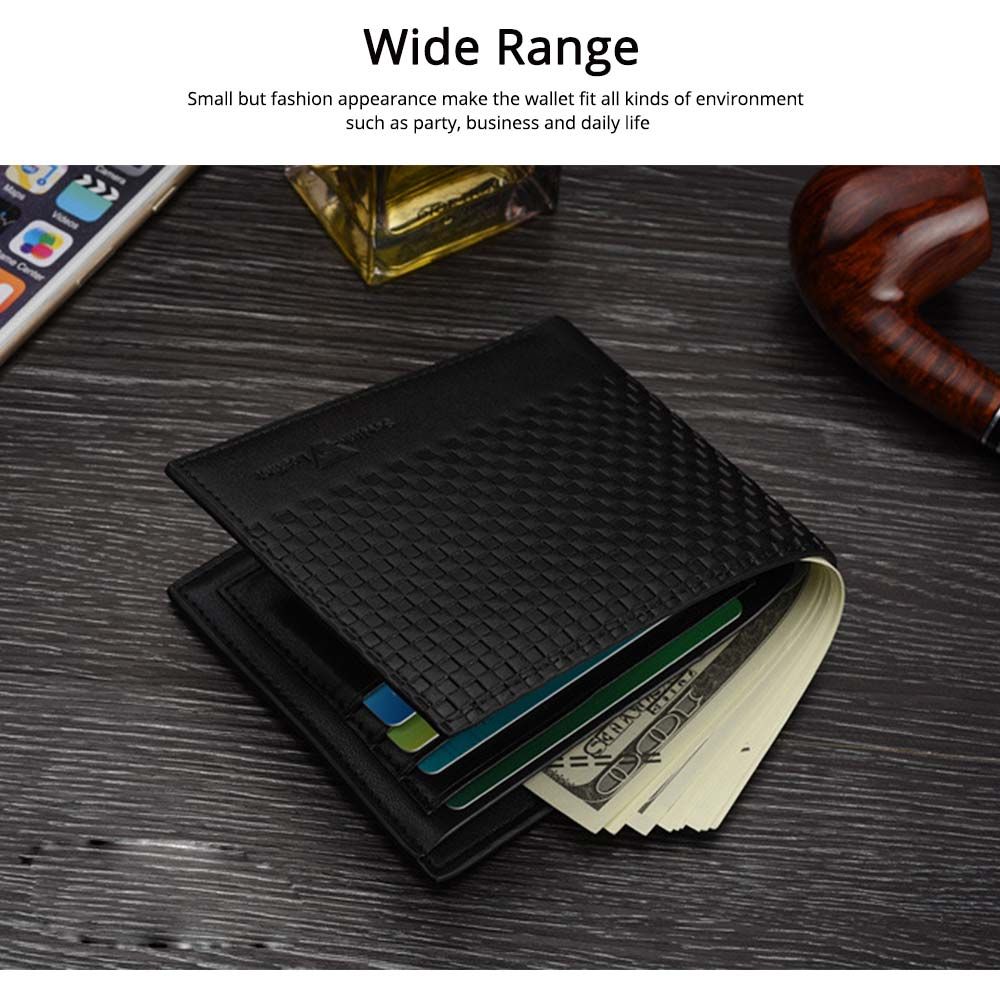 Concise Style Wallet for Business Travelling with PU Leather Material, Unique Decorative Pattern Men's Wallet 4