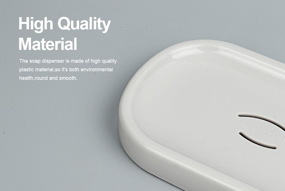 Creative Circular Asphalt Soap Box for Bathroom, Concise Bathroom Soap Holder for Men Women Soap Organizer Box 4