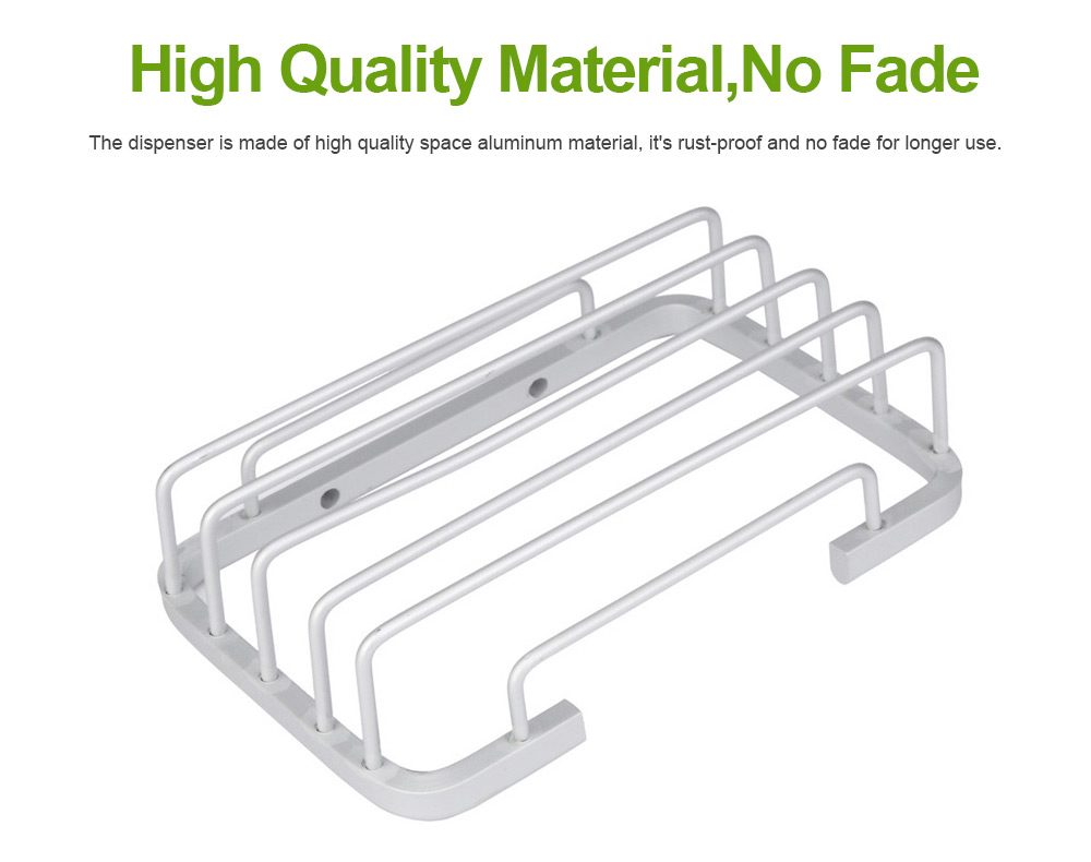 Aluminum Wall Mounted Bathroom Shower Soap Holder Dish Square Basket, Kitchen Bathroom Essential Large Capacity Soap Holder 4