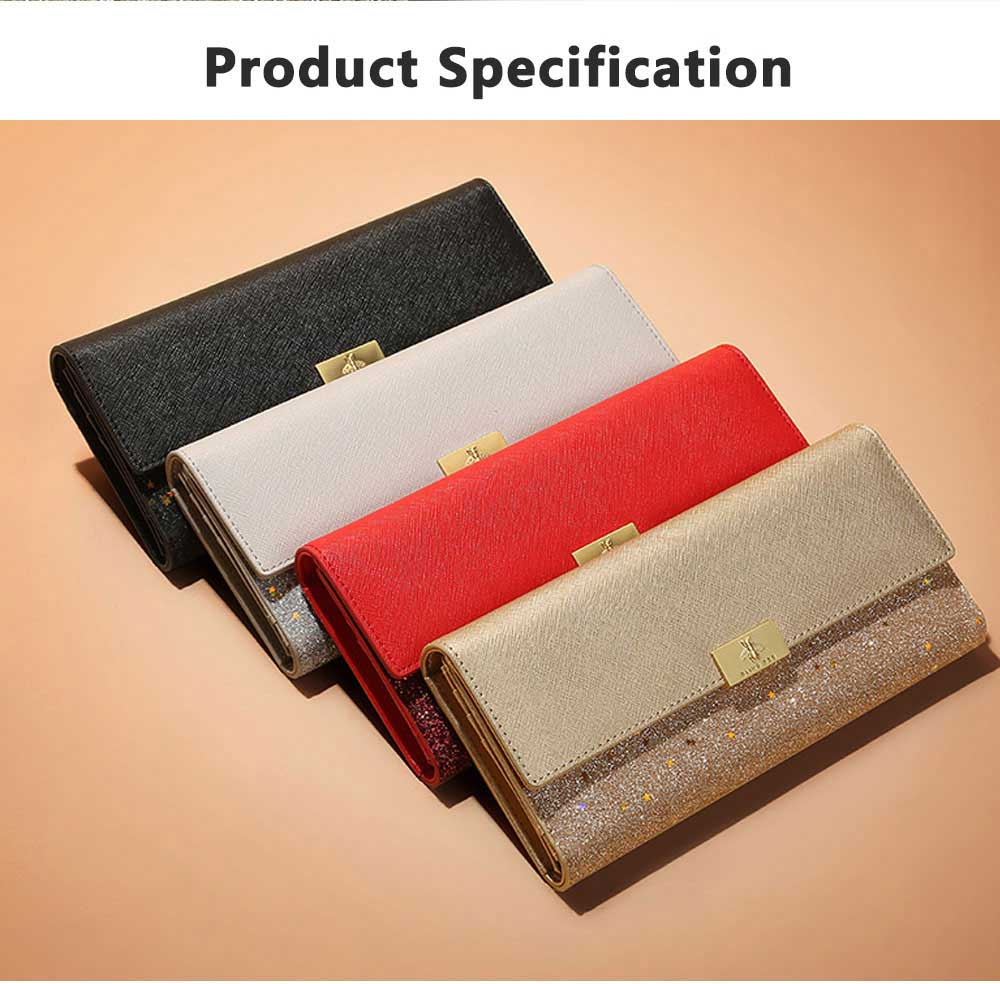 Tri-fold Multi-card Lady Purse in 2019 Fashionable Women Clutch on Clearance Multifunctional Simple Design Leather Purse 7