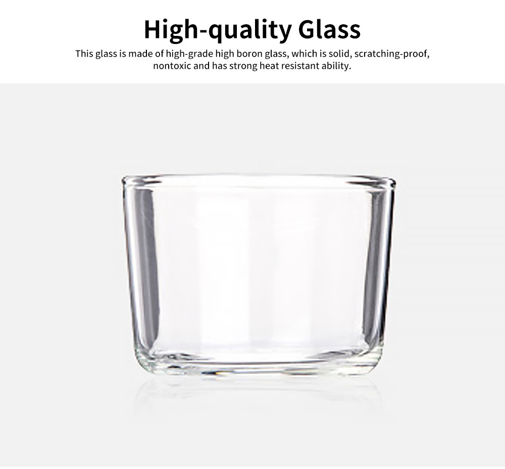Minimalist Transparent High Boron Glass Cup, Delicate Dessert Pudding Mousse Milk Strong Heat-resistant Mug 1