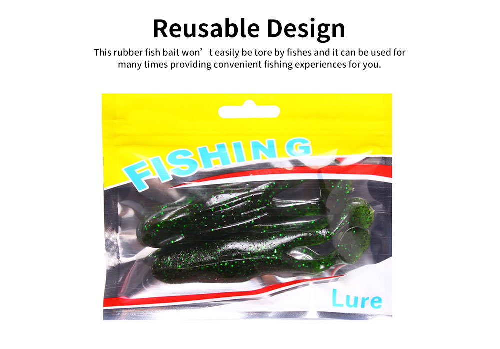 Delicate Ultra-soft Rubber Simulated Worm Fish Bait, Spangly Mock Artificial Fishing Lure Tackle Attraction 4