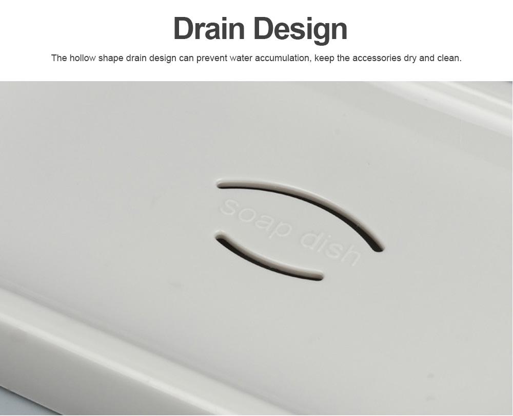 Creative Circular Asphalt Soap Box for Bathroom, Concise Bathroom Soap Holder for Men Women Soap Organizer Box 2