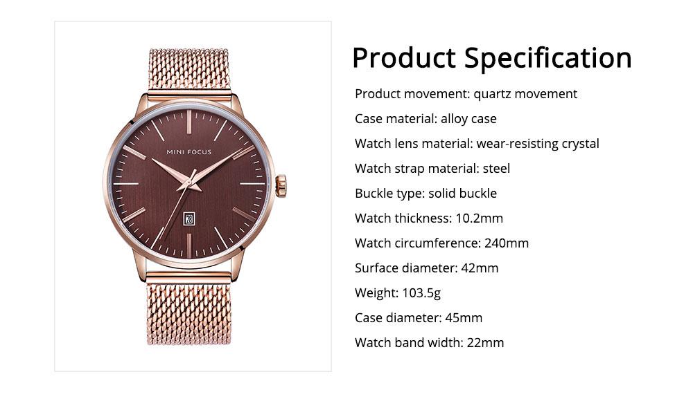 Steel Strap Quartz Watch for Men, Water-proof Round Alloy Dial Watch Wear-proof Classic Watch 7