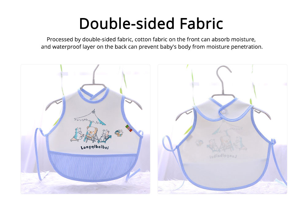 Velvet Material Bib for Baby Double-sided Mask with Bottom Pocket Buckle Saliva Cover Waterproof Baby Saliva Towel 4