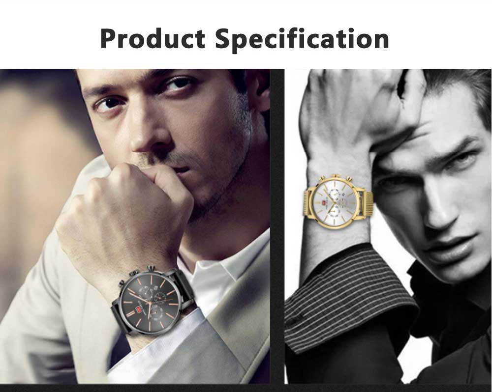 Men's Business Casual Simple Quartz Analog Wrist Watch, Quartz Waterproof Wrist Watch with Leather Band Classic Gift 10